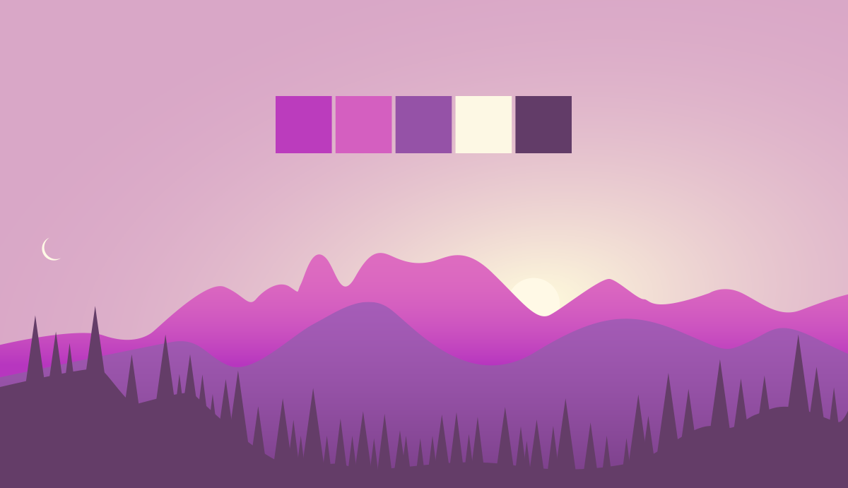 color palettes from beautiful landscapes