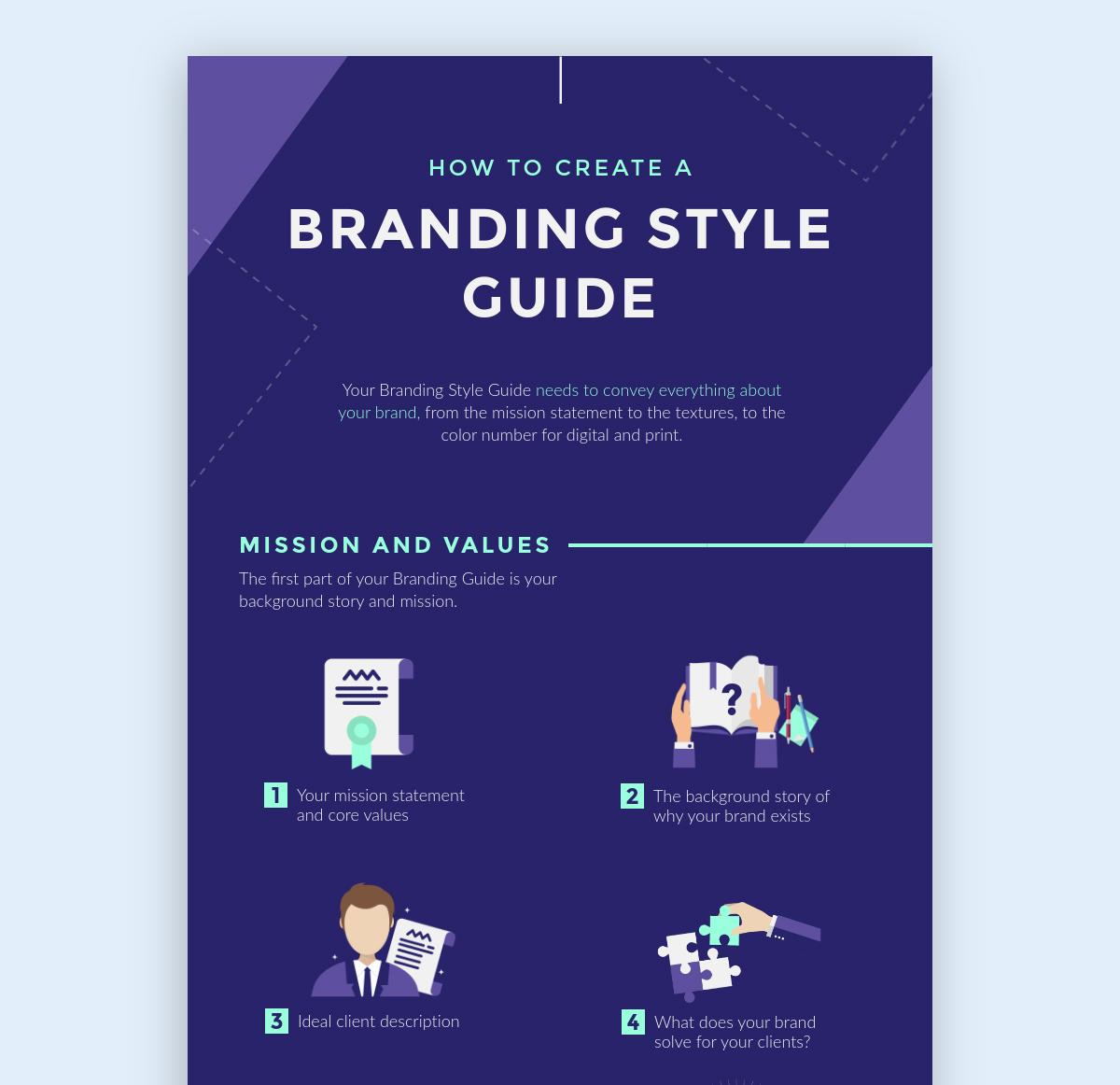 social media infographic - color scheme