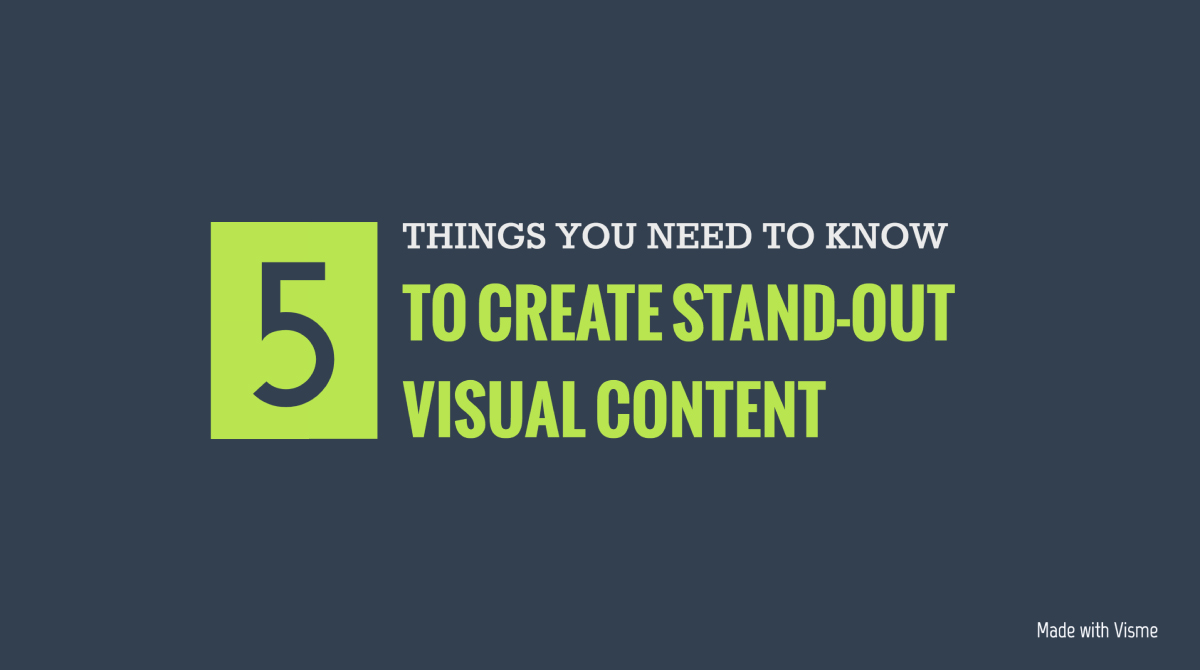social media infographic - create contrast