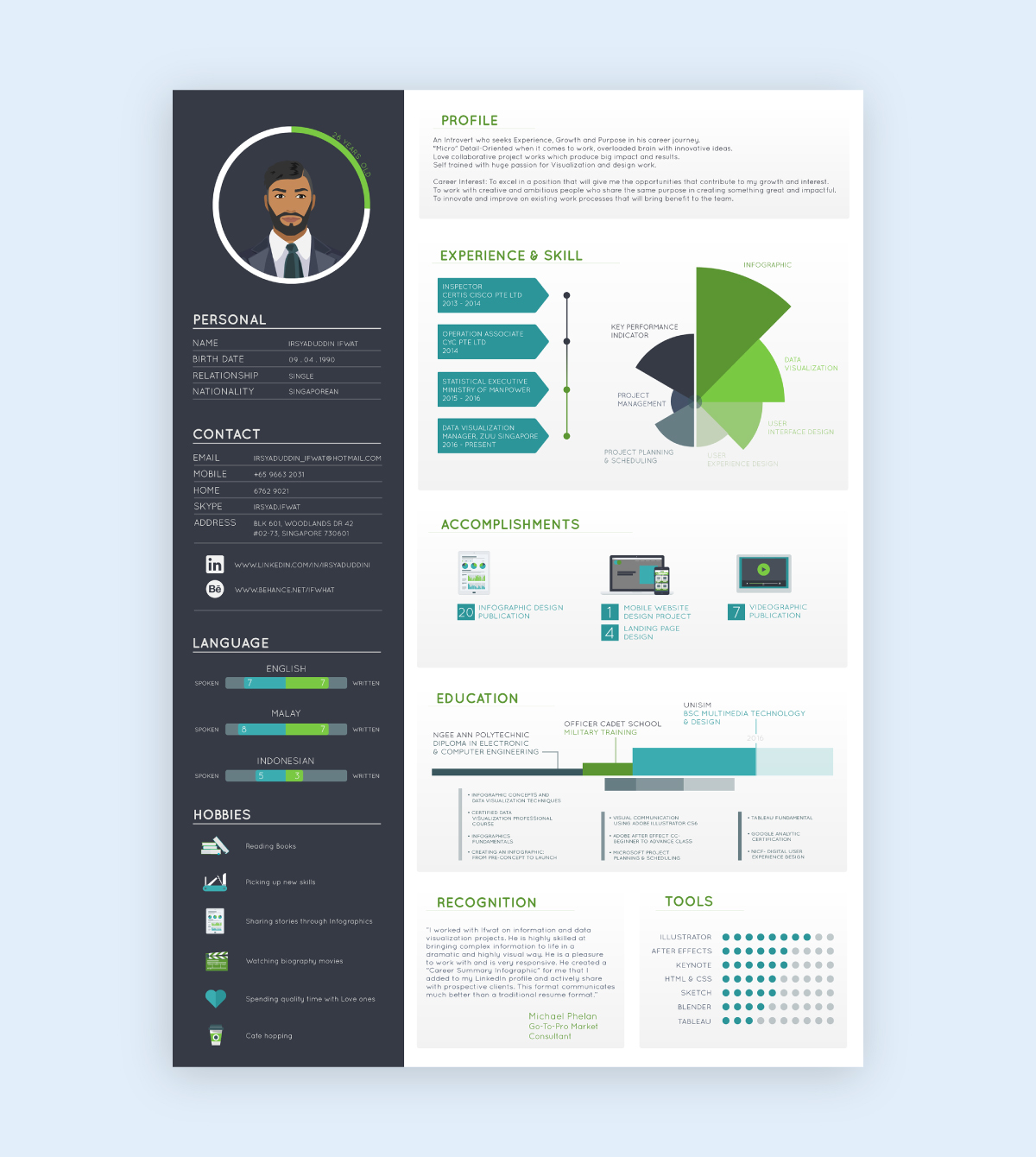 social media infographic - add extra design elements