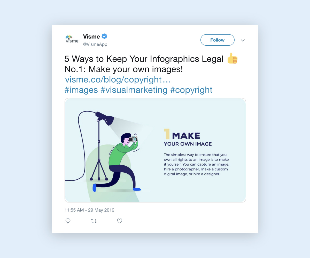 social media infographic - tease longer infographics snippet mini