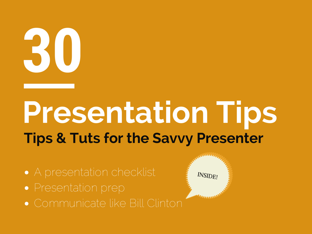 Presentation Tips and Tutorials