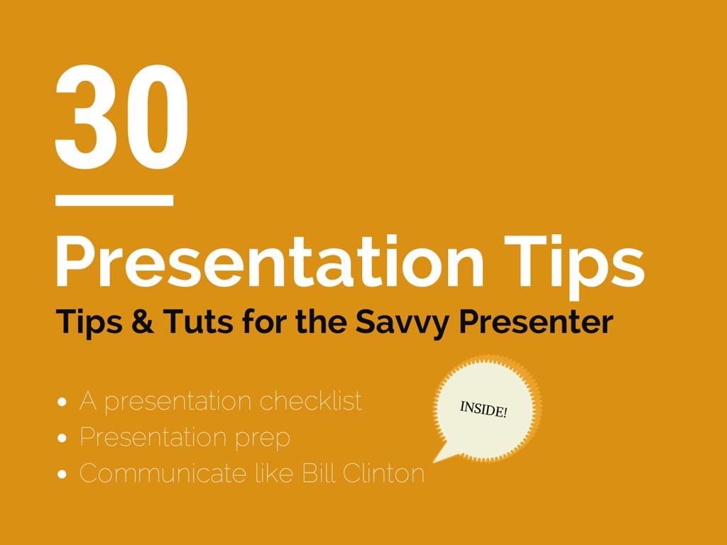 Presentation Tips and Tutorials