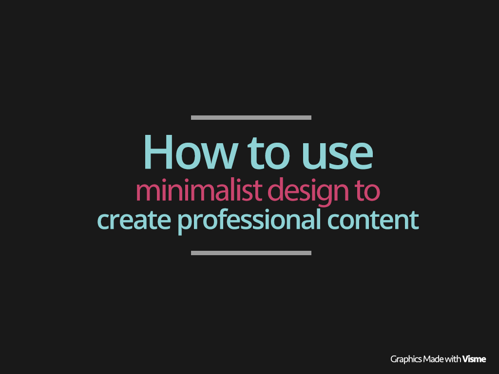 How To Use Minimalist Flat Design To Create Professional
