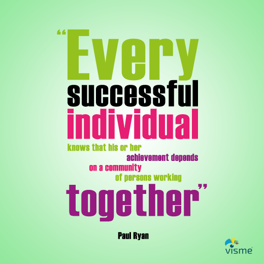 Quotes About Working Together | 5 Motivational Quotes To Inspire Personal Success Visual Learning