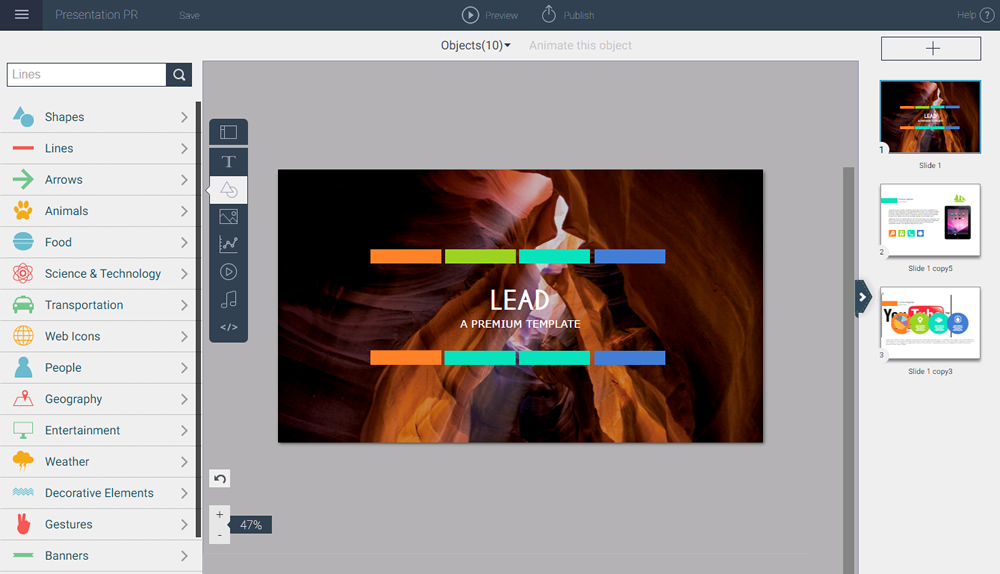 New Visme Interface