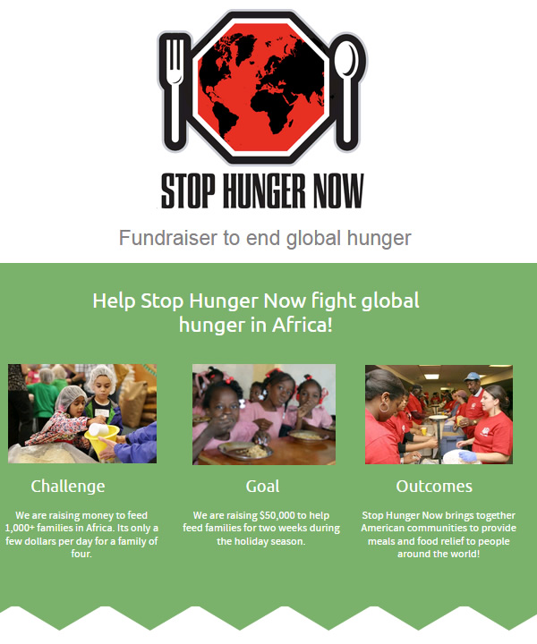 Stop Hunger Now Infographic