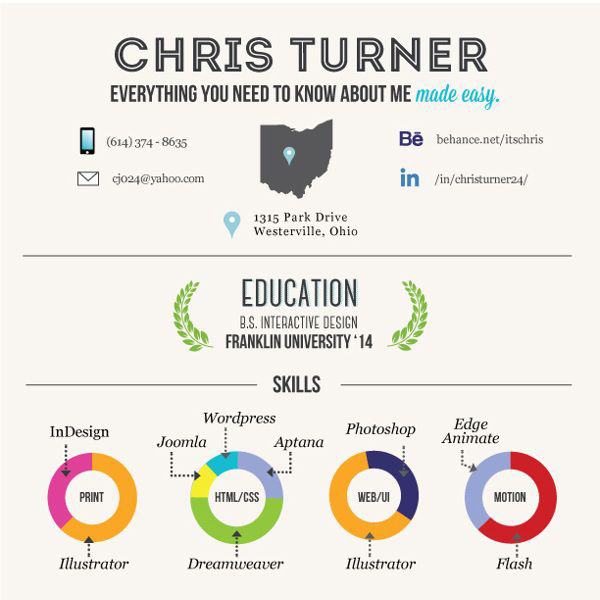 20 Beautiful Infographic Resumes That Will Inspire You | Visual