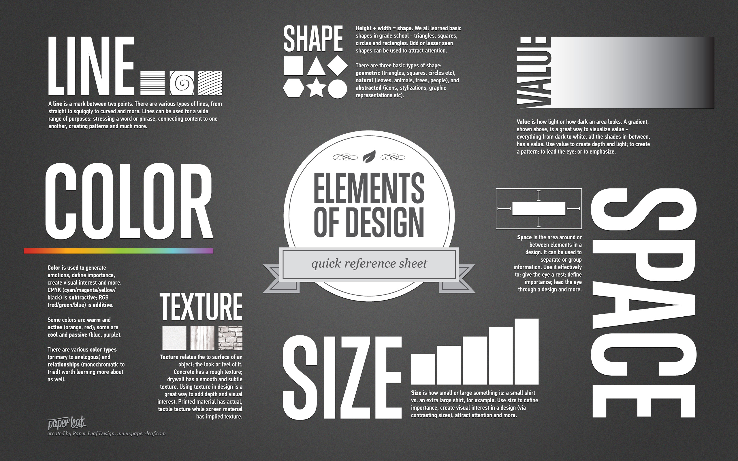 Visual Design Elements : What makes good design basic elements and principles