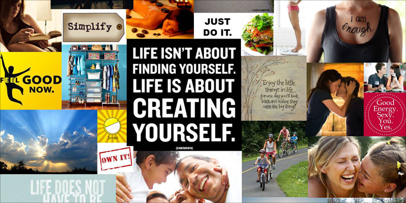 how to visualize your future with a vision board | visual learning, Powerpoint templates