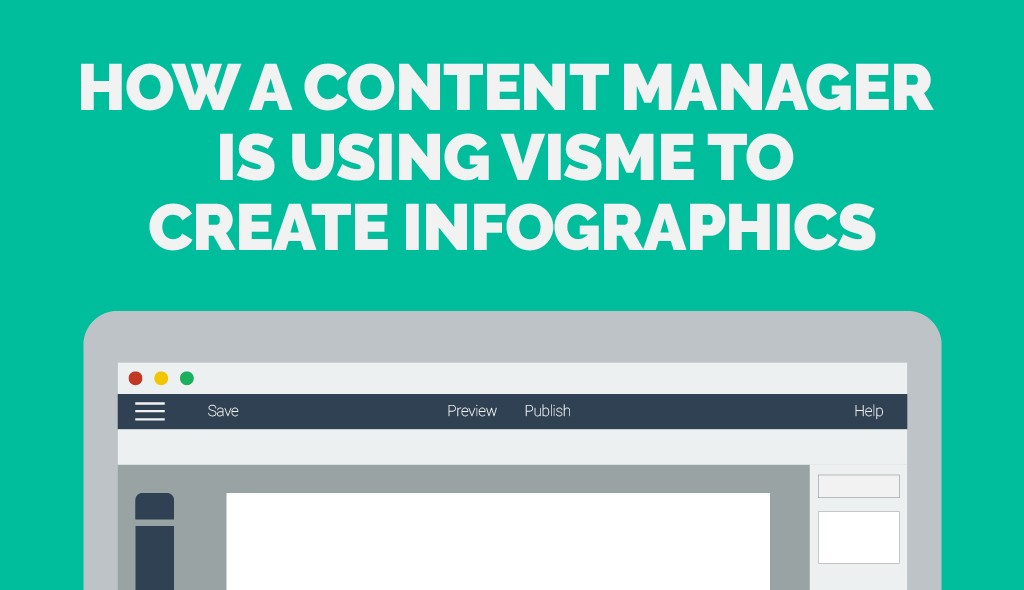 how a content manager is using visme to create infographics