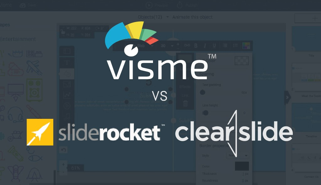 visme sliderocket clearslide comparison