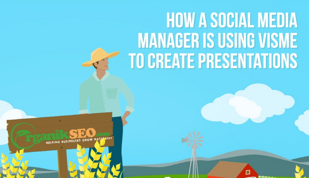 social media manager organik seo using visme presentations