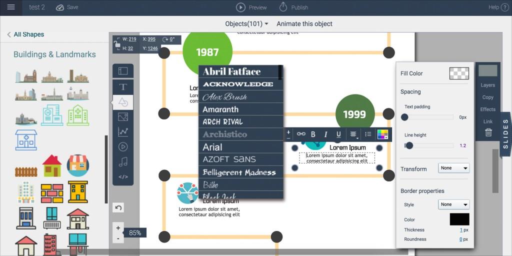 visme interface screenshot 2