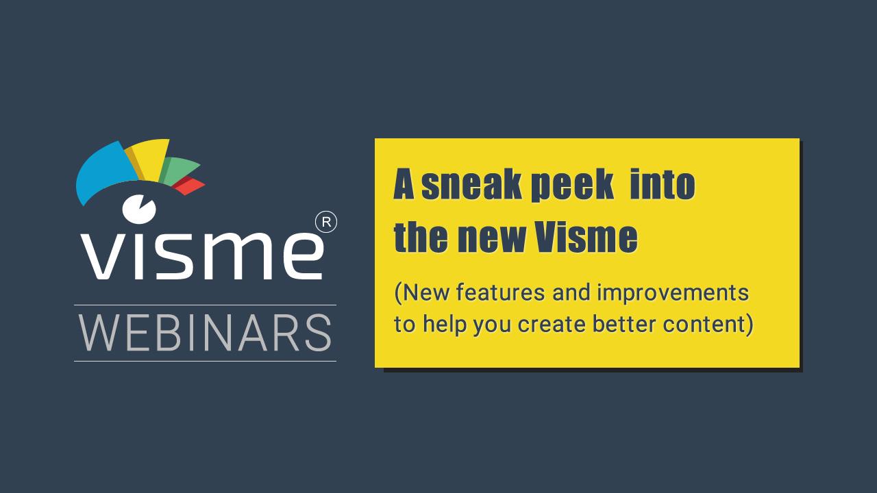 Webinar - Visme New Version
