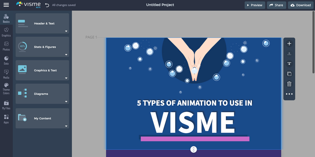 create animated infographics - insert your own text