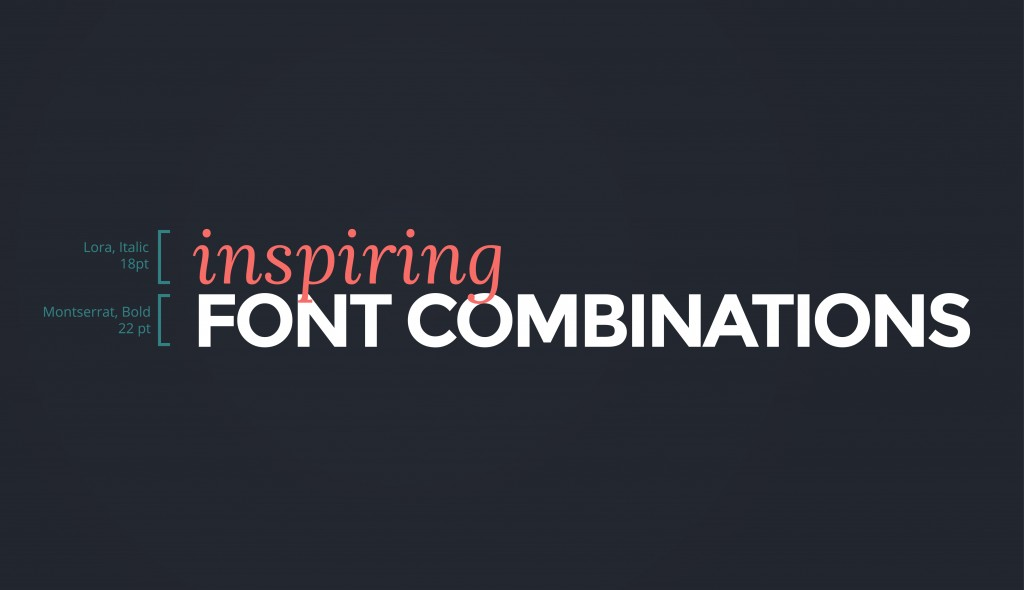 15 Fresh Font Combinations For Your Presentations And