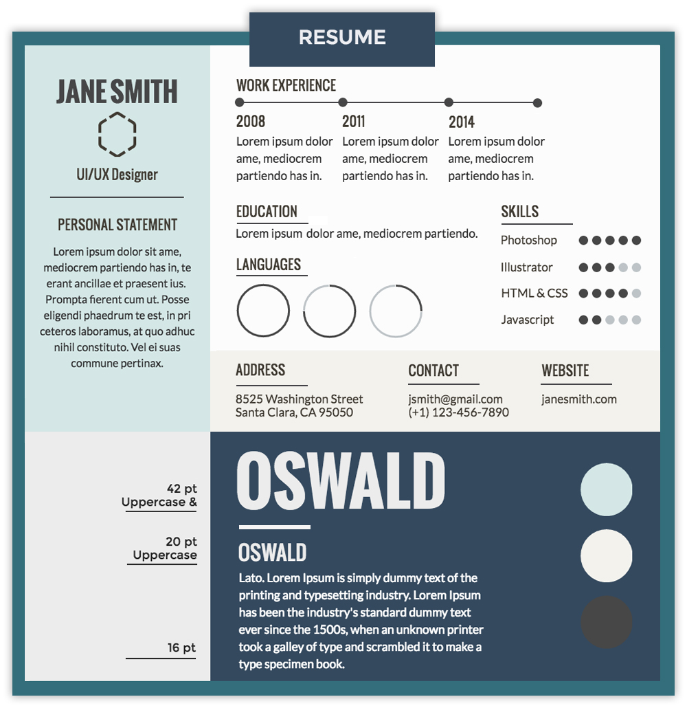 Visme Font Pairing Resume  Professional Fonts For Resume