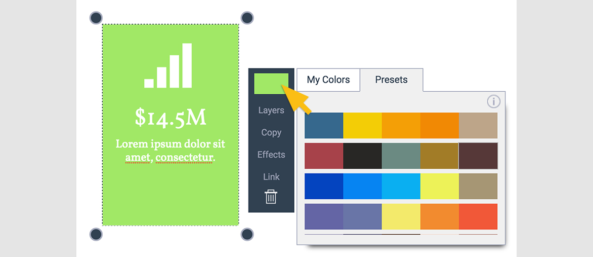 Visme Color Presets