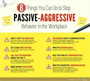 How to correct passive aggressive behavior