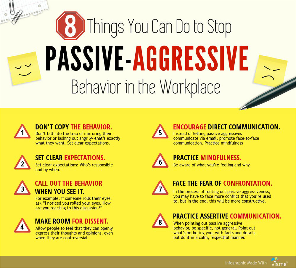 How To Deal With Passive Aggressive Coworkers