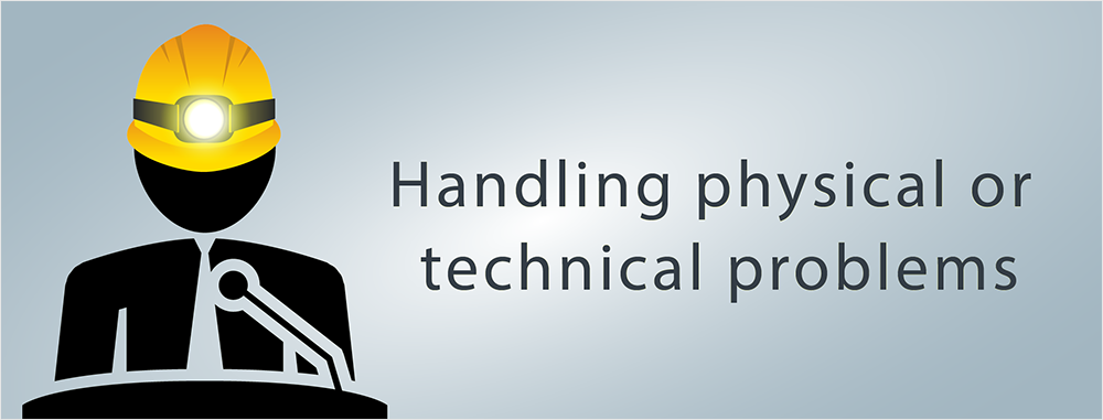 handle technical problems presentations