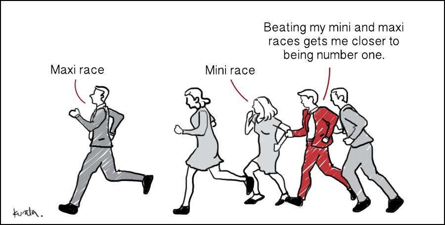 marketing strategy marathon mini maxi race