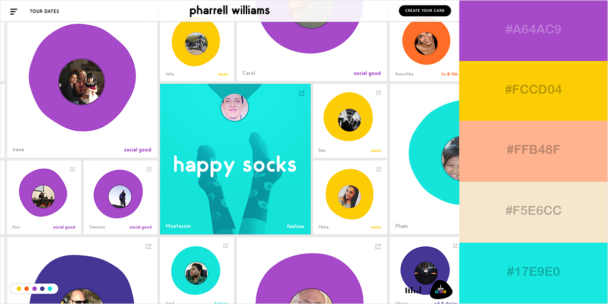 50 Gorgeous Color Schemes From Stunning Websites