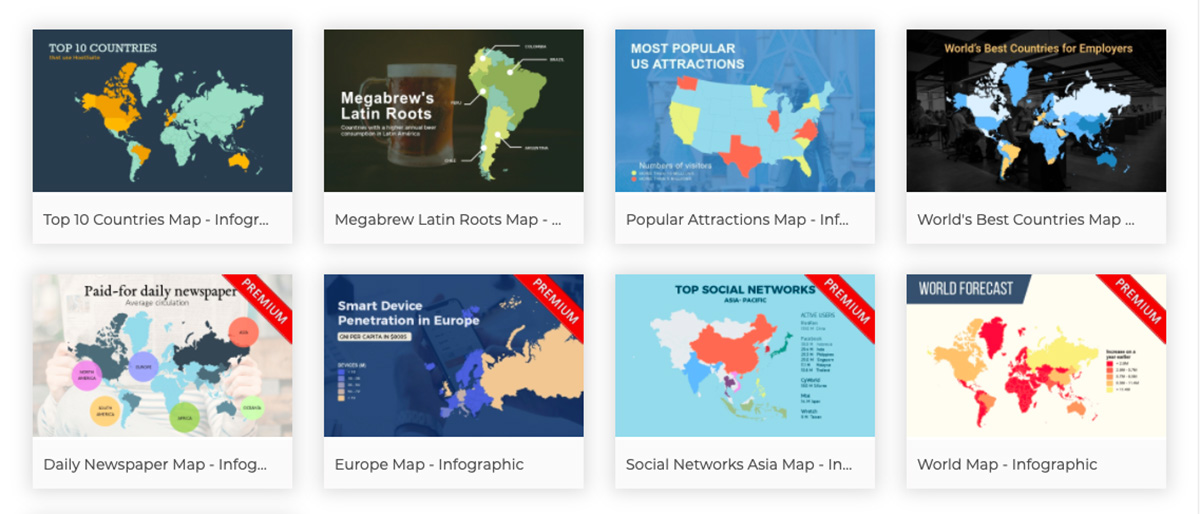 create interactive map - choose an interactive map template