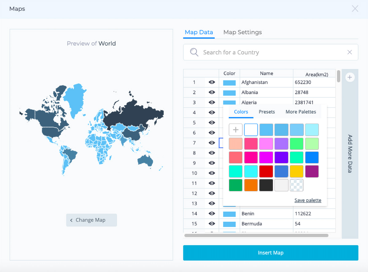 create interactive map - color code your map
