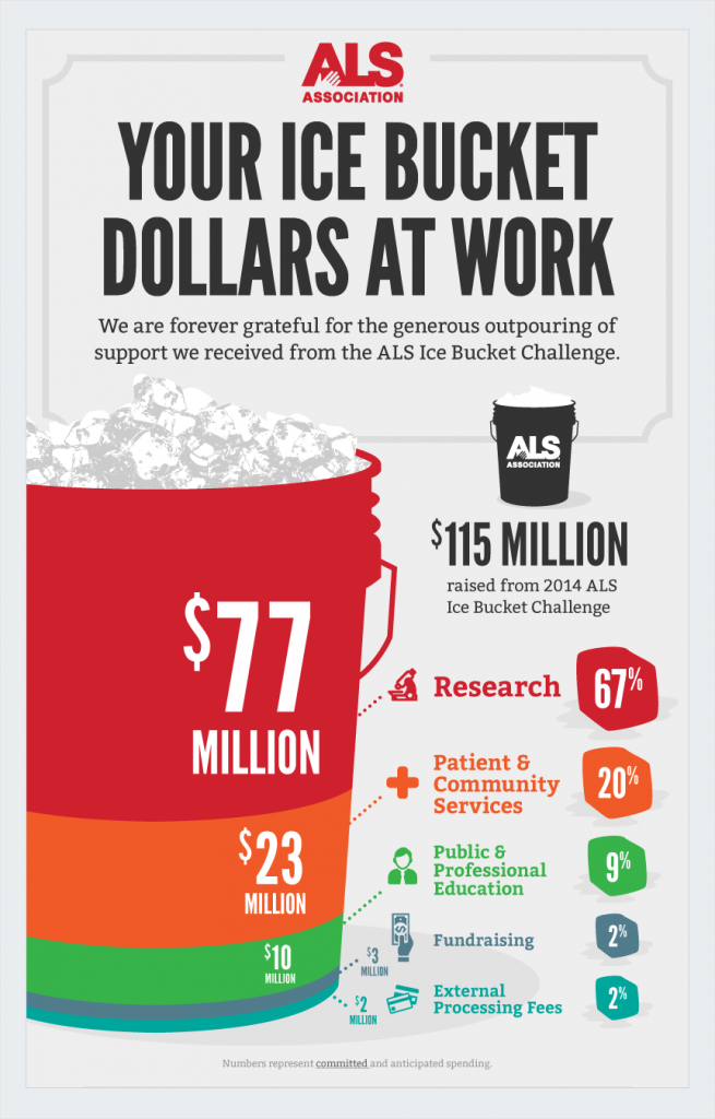 als ice bucket nonprofit infographics