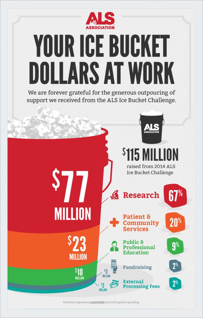 als ice bucket nonprofit infographics