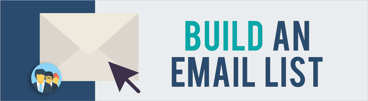 increase website traffic build an email list