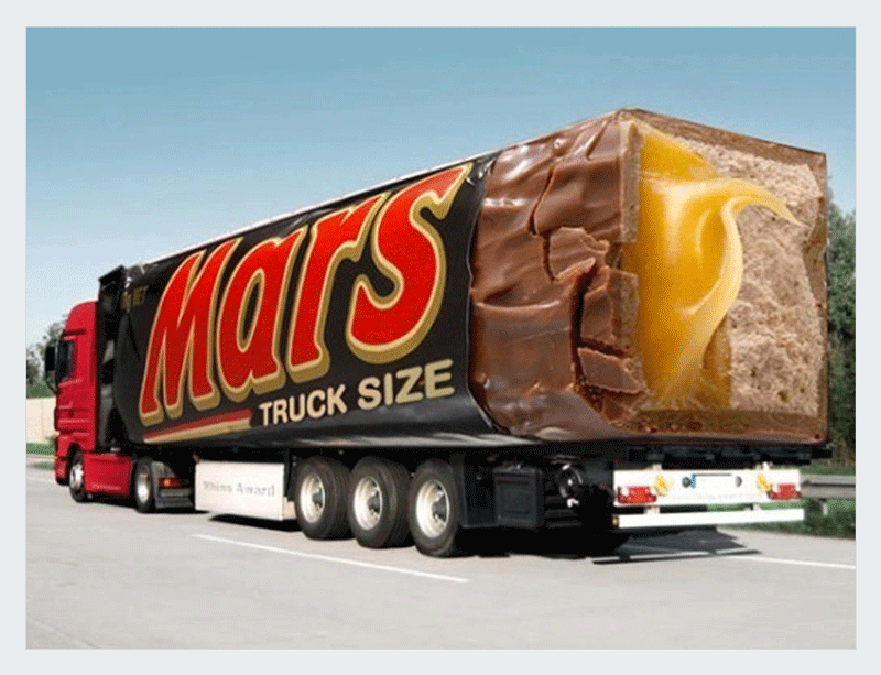 guerrilla marketing ideas mars truck