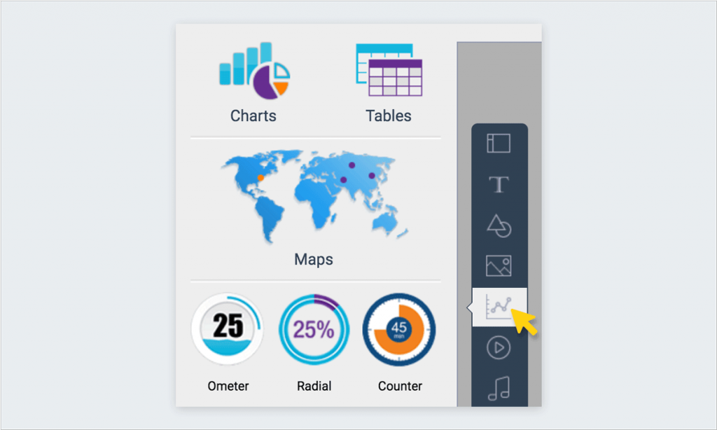 charts and data widgets tool