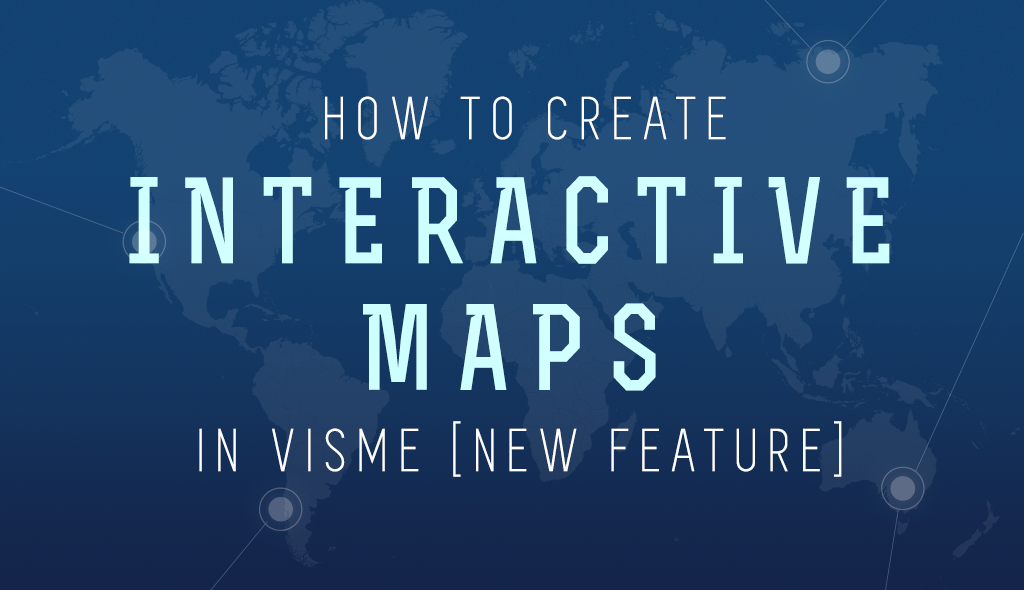 create interactive map blog post header