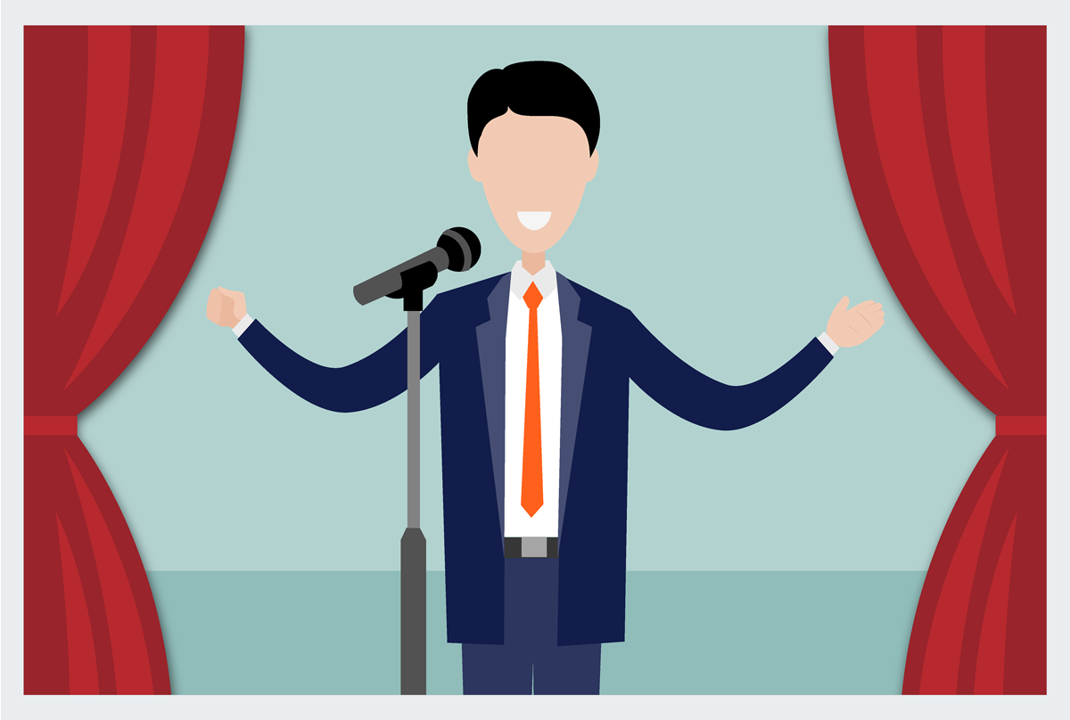 how to become a humorous presenter