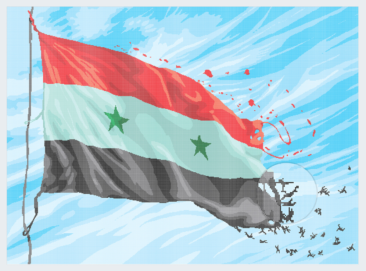 the-syrian-death-toll-flag best infographics 2016