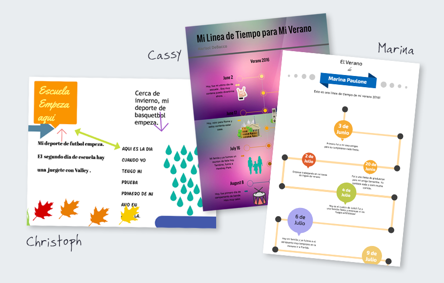 examples of student timeline projects