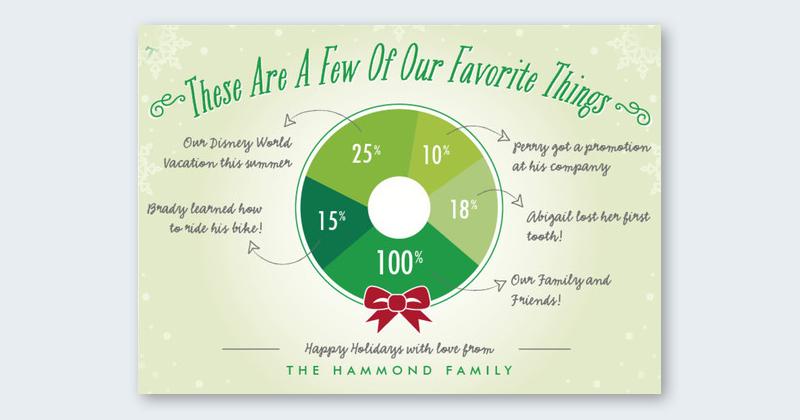 infographic christmas card