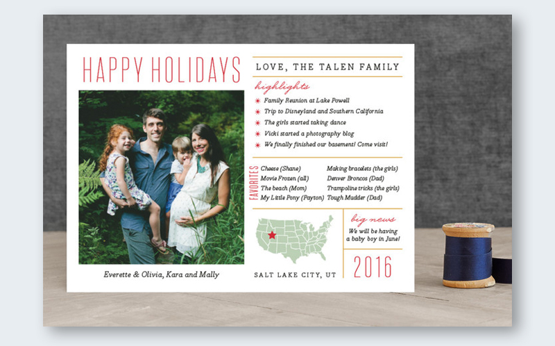 infographic christmas card