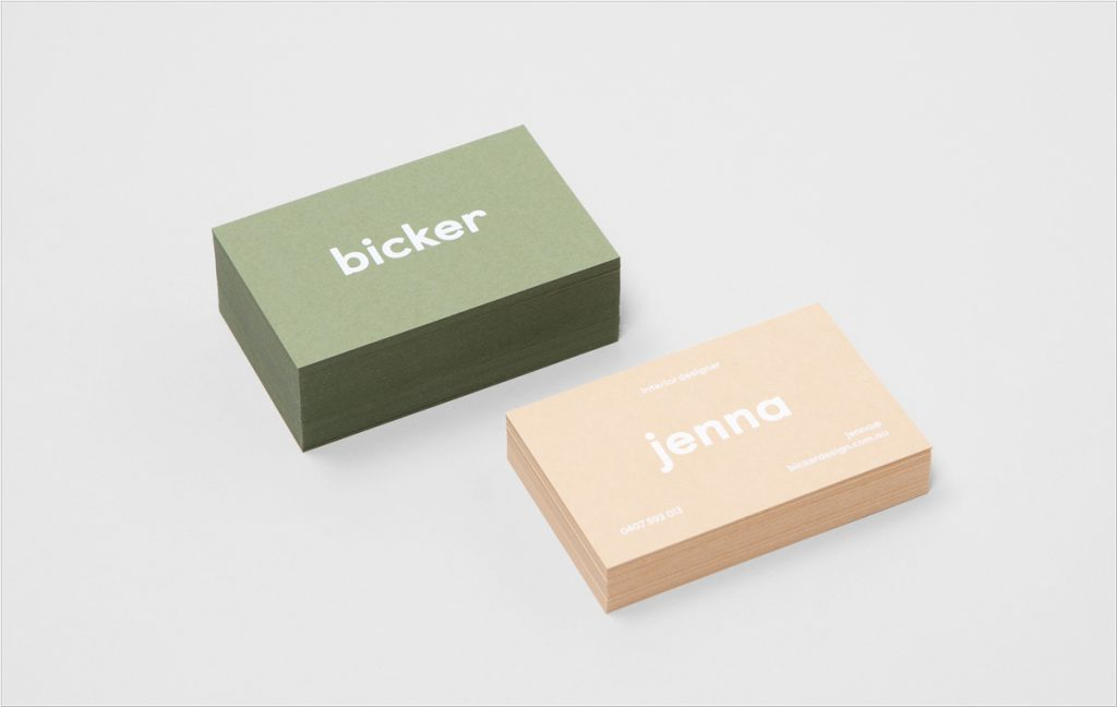 minimalist business card design
