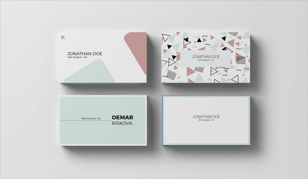 modern and clean business card design