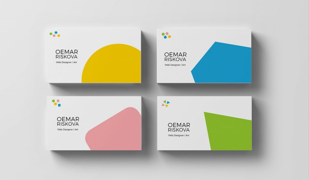minimal and geometric business card design