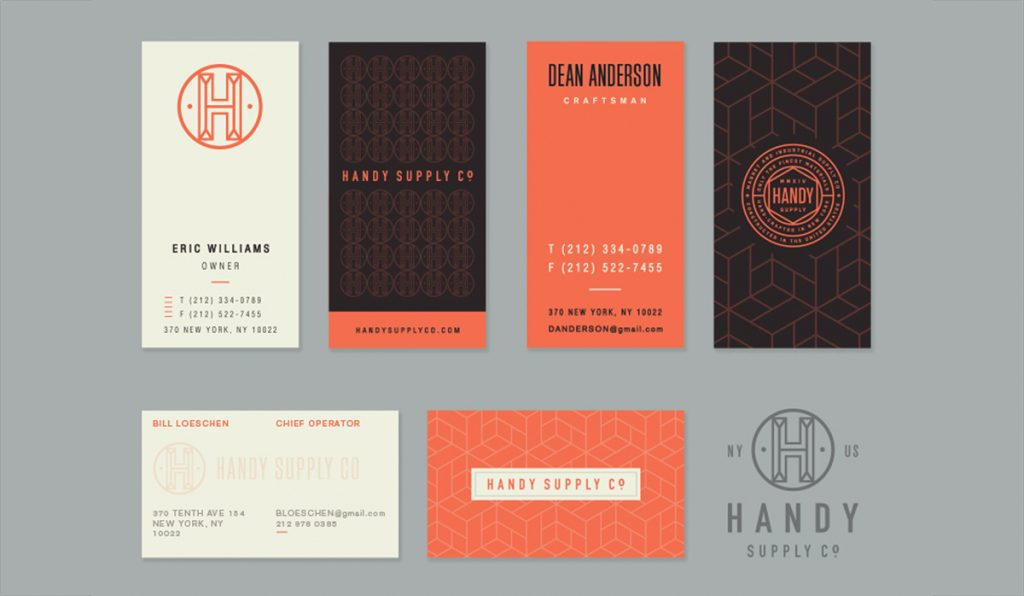 sophisticated and energetic business card design