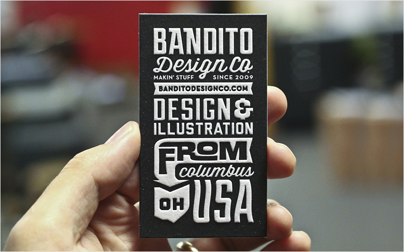 retro vintage business card design inspiration