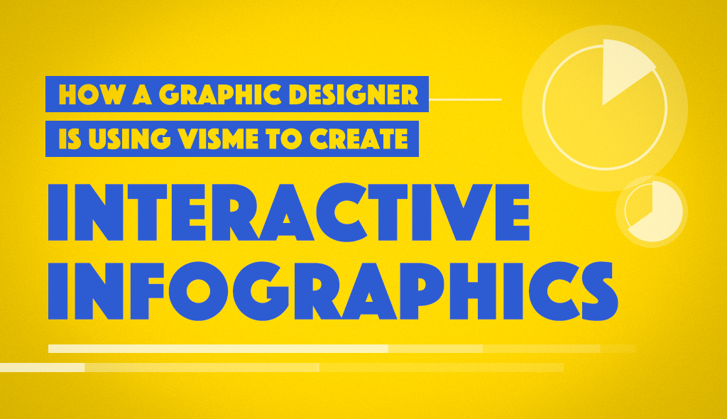 user story how a graphic designer is using visme to create interactive infographics