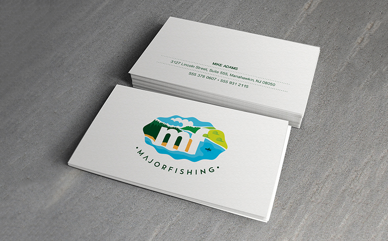 business card design minimal and colorful