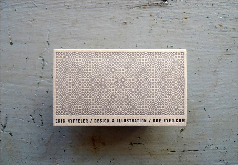 creative letterpress business card design