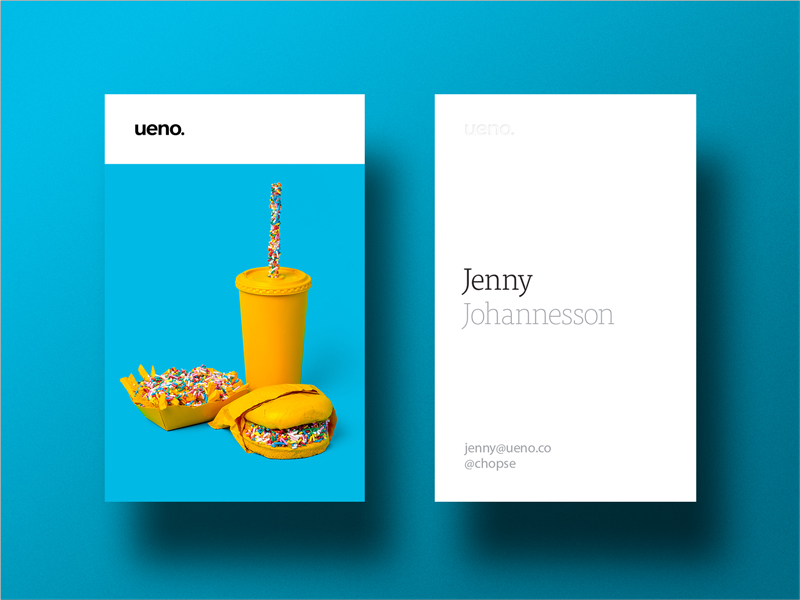 modern simple bold business card design